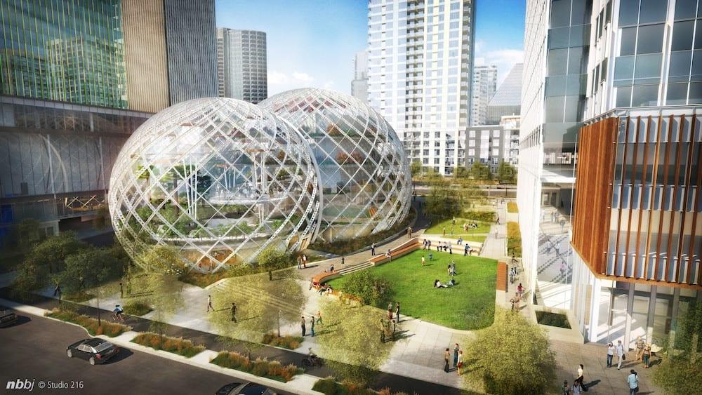 Amazon построит в центре Сиэтла огромный парник