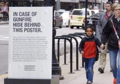В Вашингтоне разместили пуленепробиваемые постеры