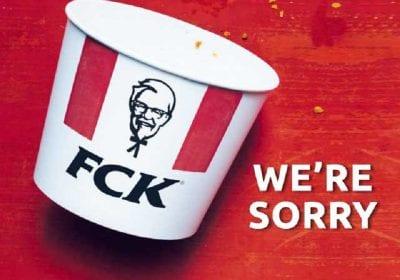 KFC сказала FCK в печатной рекламе в ответ на кризис