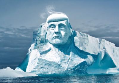 Финны планируют высечь лицо Трампа на айсберге