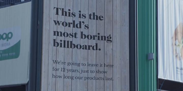 В Швеции установили самый скучный билборд