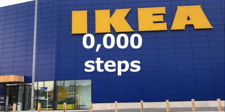 Ikea проложила пешеходный маршрут к новому магазину в наружной рекламе