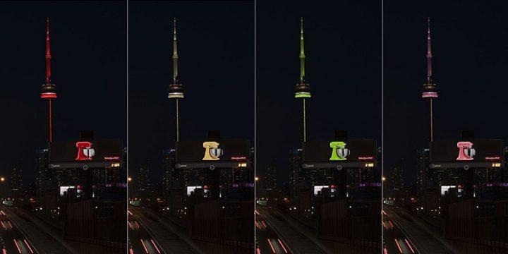 В Торонто разместили билборд-«хамелеон»