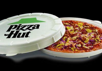 Pizza Hut тестирует круглую коробку для пиццы