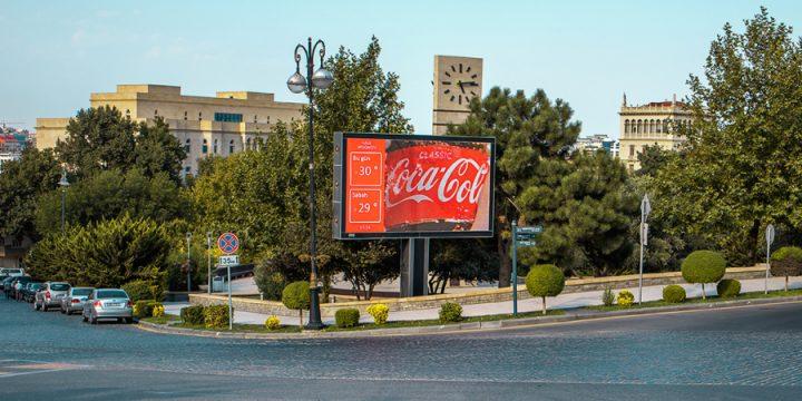 В Азербайджане запустили наружную рекламу на основе прогноза погоды